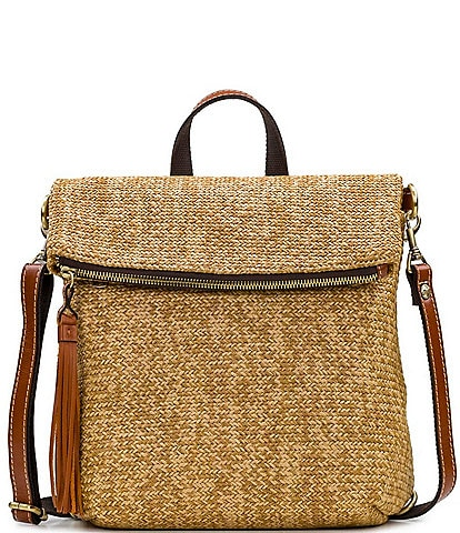 Patricia Nash Seasonal Collection Luzille Straw Backpack