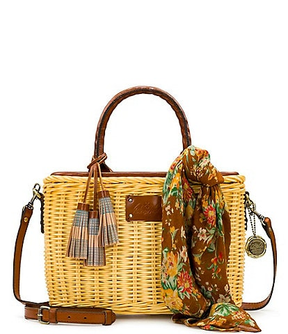 Patricia Nash Seasonal Collection Sorrentina Straw Satchel Bag