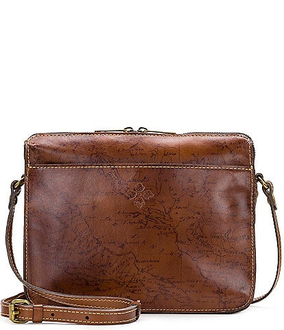 Patricia Nash Signature Map Collection Nazaire Crossbody Bag