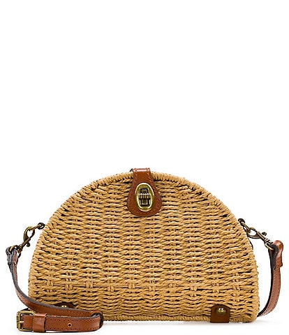 Patricia Nash Straw Bonella Dome Crossbody Bag