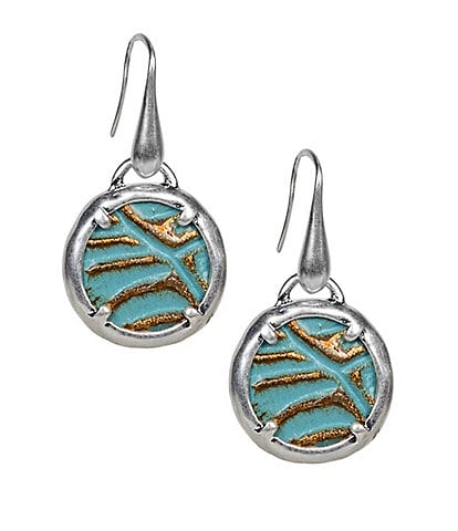 Patricia Nash The Elena Leather Inset Charm Earrings