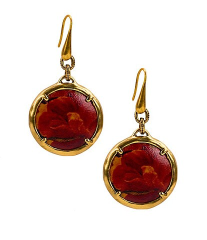 Patricia Nash The Leather Charm Earrings