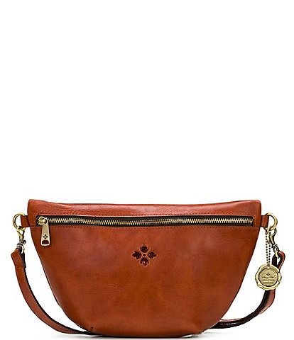 Patricia Nash Tinchi Leather Zip Front Belt Bag