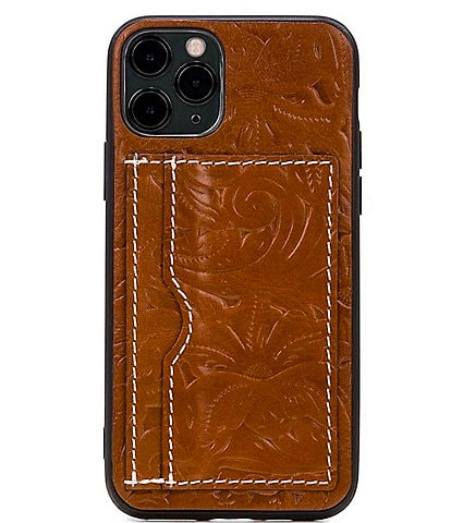 Patricia Nash Rose Tooling Collection Novara Leather iPhone Case