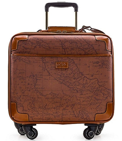 Patricia Nash Velino Map Print Trolley Wheeled Carry-On Spinner