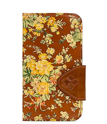 Patricia Nash Vintage Botanical Collection Floral Leather iPhone Case