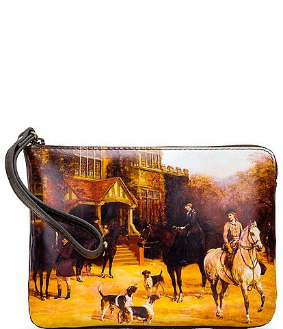 Patricia Nash Vintage Equestrian Paintings Collection Cassini Wristlet