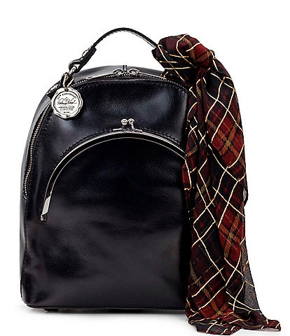 Patricia Nash Vintage Patent Collection Vintage Frame Montioni Convertible Backpack