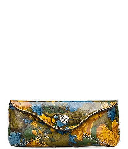 Patricia Nash Wildflower Collection Ardenza Floral Printed Leather Glasses Case