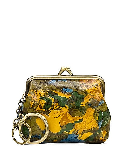 Patricia Nash Wildflower Collection Large Floral Printed Leather Borse Coin Purse