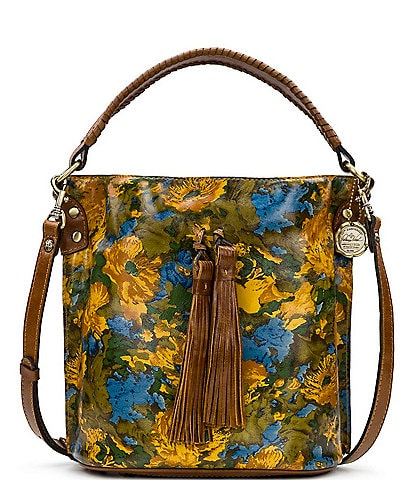Patricia Nash Wildflower Collection Otavia Floral Printed Leather Bucket Bag
