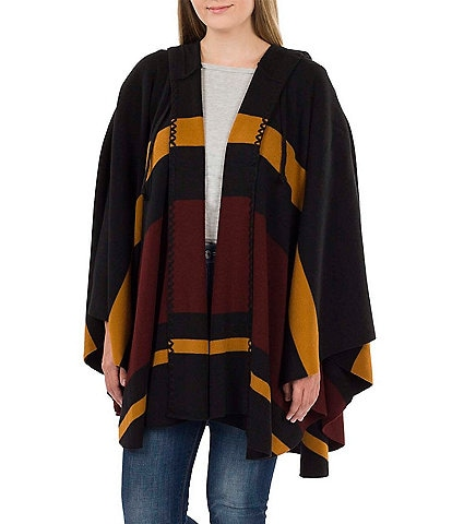Patricia Nash Women's Striped Hooded Cape