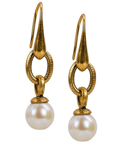 Patricia Nash World Coin Pearl Drop Earrings