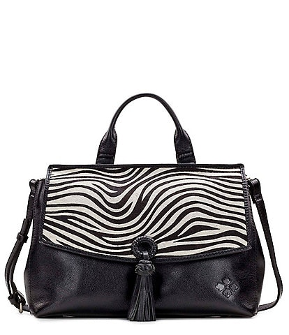 Patricia Nash Zebra Collection Mollia Zebra Satchel Bag