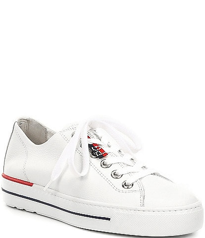Paul Green Carly Leather Low Top Lace-Up Sneakers
