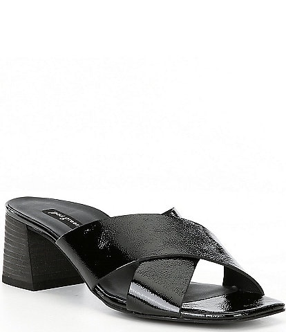 Paul Green Cici Leather Square Toe Sandals