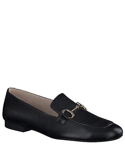 Paul Green Daphne Bit Buckle Leather Loafers