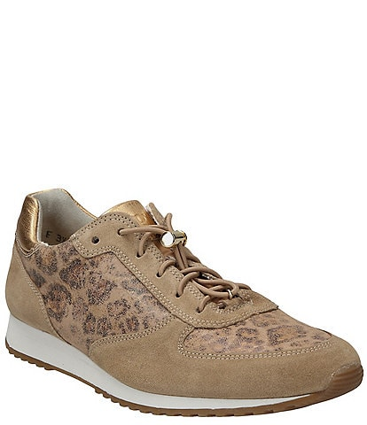 Paul Green Elvis 2021 Leather and Leopard Print Sneakers
