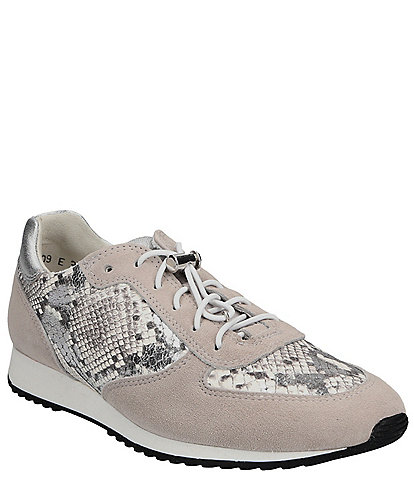 Paul Green Elvis 2021 Leather and Snake Print Sneakers