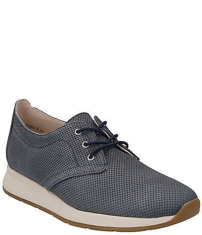 Paul Green Isabella Woven Nubuck Leather Oxford Sneakers