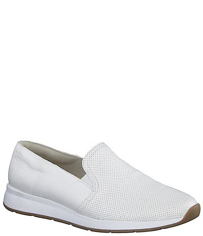 Paul Green Ivy Leather Woven Embossed Slip-On Loafers
