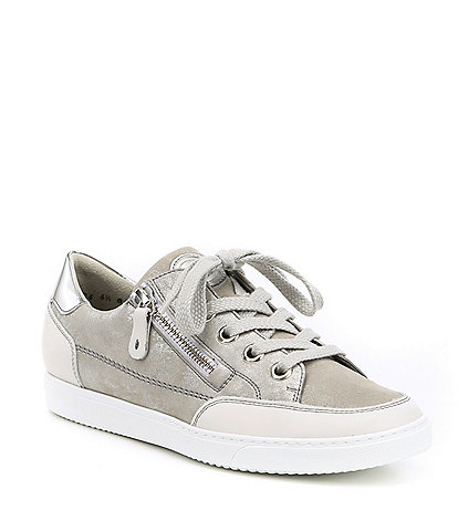 Paul Green Nuevo Leather and Glitter Sport Sneakers