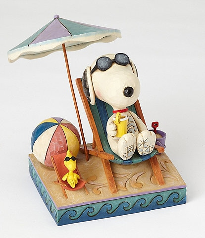 Peanut by Jim Shore Snoopy and Woodstock Beach Buddies Figurine