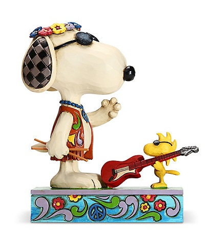 Peanuts by Jim Shore Snoopy and Woodstock Concert Critters Figurine