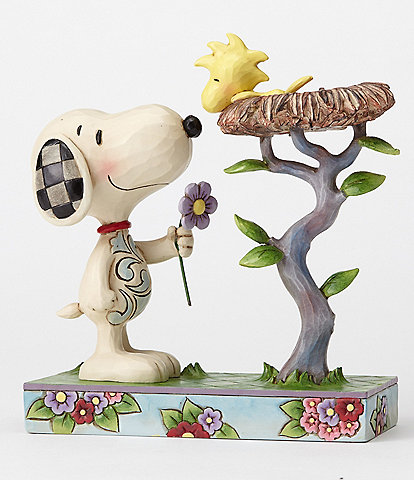 Peanuts by Jim Shore Snoopy with Woodstock Nest Warming Gift Figurine