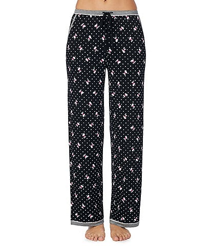 Peanuts Snoopy & Dot Print Knit Sleep Pants