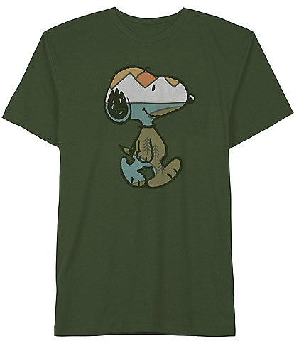Peanuts Snoopy Outdoor Print Graphic Short-Sleeve T-Shirt