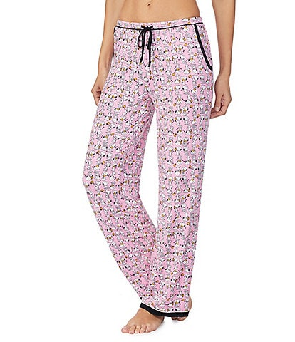 Peanuts Snoopy Printed Knit Sleep Pants