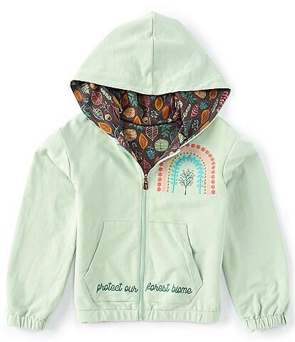 Peek X The Nature Conservancy Little/Big Girls 2T-12 Long-Sleeve Forest Reversible Jacket