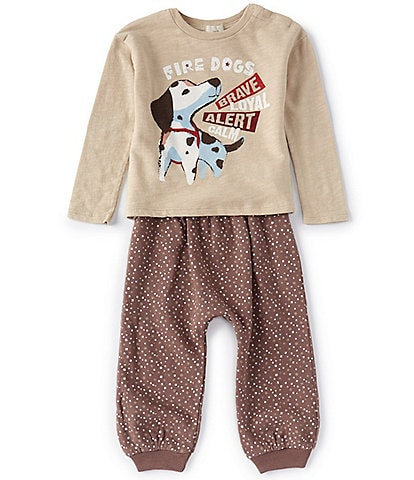Peek Baby Boys 3-24 Months Long-Sleeve Fire Dogs Heroes Tee & Jogger Set