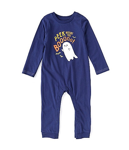 Peek Baby Boys 3-24 Months Long-Sleeve Halloween Peek Before You Boo Coverall