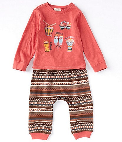 Peek Baby Boys 3-24 Months Long-Sleeve Make Music Tee & Jogger Set