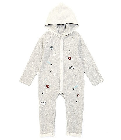 Peek Baby Boys 3-24 Months Long-Sleeve Space-Embroidered Hooded Coverall