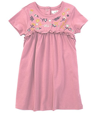 Peek Baby Girls 3-24 Months Embroidered Empire-Waist Dress