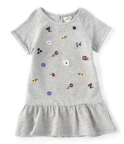 Peek Baby Girls 3-24 Months Floral-Embroidered Dropwaist Dress