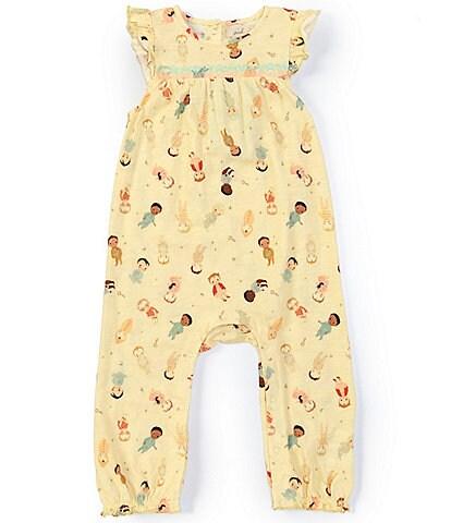 Peek Dream World x Peek Baby Girls 3-24 Months Flutter-Sleeve Printed Coverall