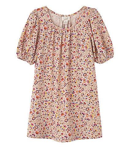 Peek Little Girls 2-7 Isa Allover Print Puff Sleeve Dress