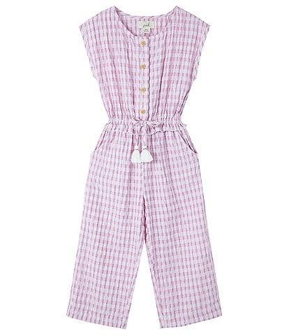Peek Little Girls 2-7 Sleeveless Plaid Janice Jumpsuit