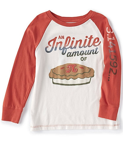 Peek Little/Big Boys 2T-12 Long-Sleeve Pi Infinite Amount Raglan Tee
