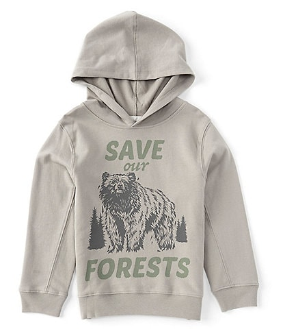 Peek Little/Big Boys 2T-12 Long-Sleeve Save Our Forest Graphic Pull-Over Hoodie