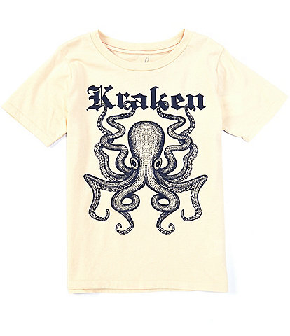Peek Little/Big Boys 2T-12 Short-Sleeve Kraken Sea Creature Tee