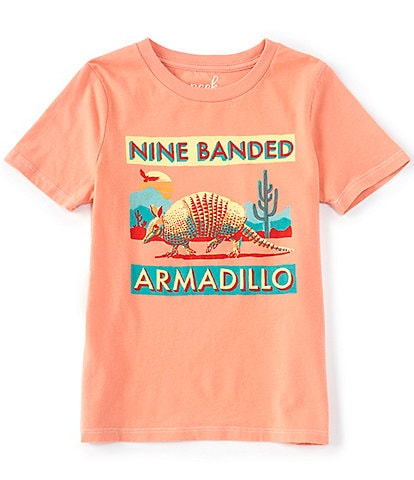 Peek Little/Big Boys 2T-12 Short-Sleeve Leroy Armadillo Graphic Tee