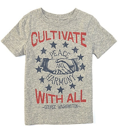 Peek Little/Big Boys 2T-12 Short-Sleeve Modesto Cultivate Peace Graphic Tee