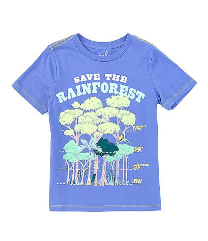Peek Little/Big Boys 2T-12 Short-Sleeve Save The Rainforest Tee