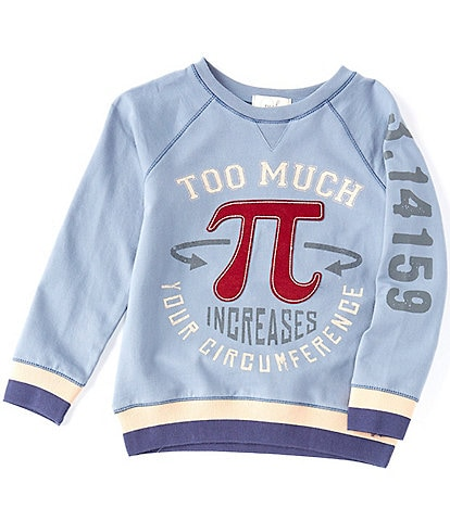 Peek Little/Big Boys 2T-12 Too Much Pi French Terry Sweatshirt