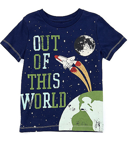 Peek Little/Big Boys 2T-7 Short-Sleeve Wyatt Out Of This World Graphic Tee